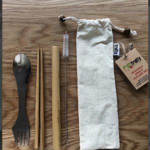 Reusable all-in-one cutlery set